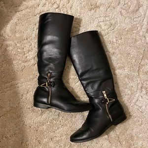 Impo stretch black and gold boots